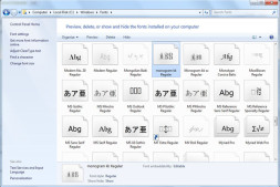 Windows下字体安装