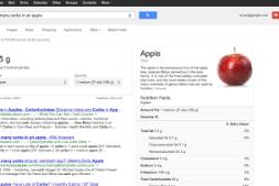 Google营养信息搜索