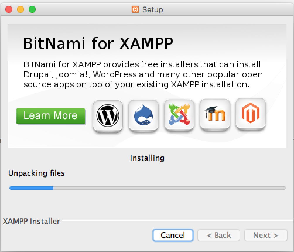 Mac上Xampp配置进程