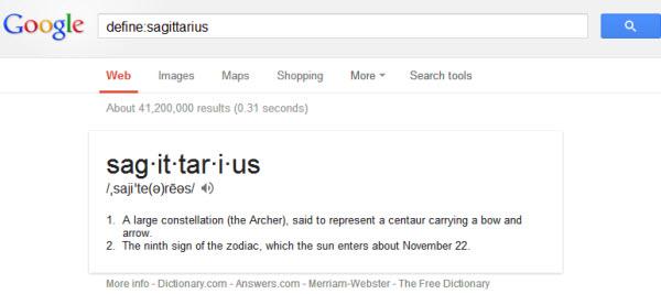 Google Operator Define: