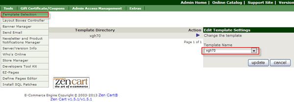 Zencart模板选择