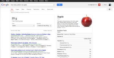 谷歌营养信息搜索