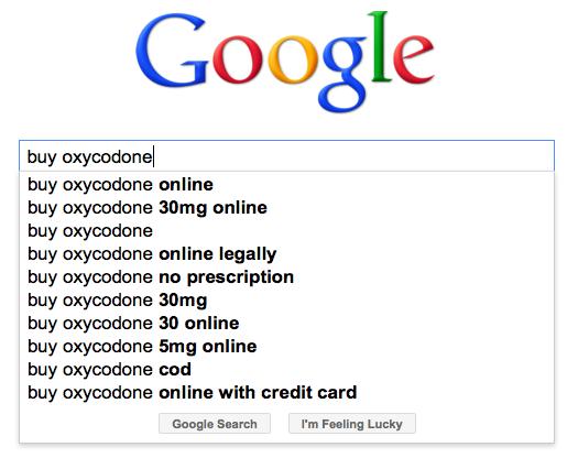 谷歌上购买羟可酮