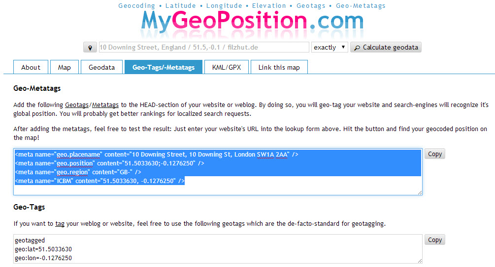 Geo Tag Tool