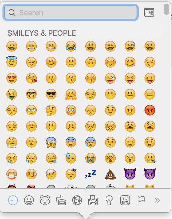 Mac 在Wordpress上输入表情符号