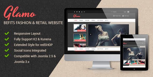 Joomla免费自适应模板-JSN Glamo