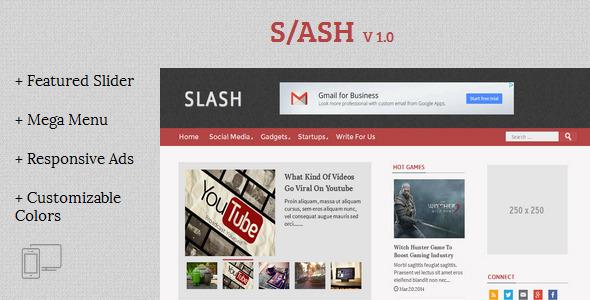 Slash - 技术杂志类Blogger模板