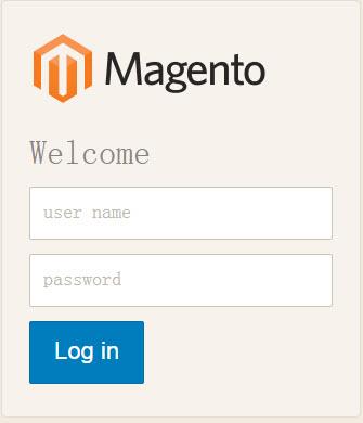 Magento 2登录页面
