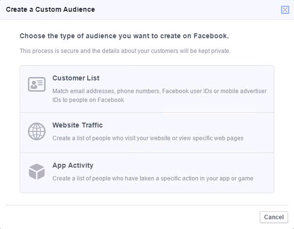 Facebook自定义广告客户