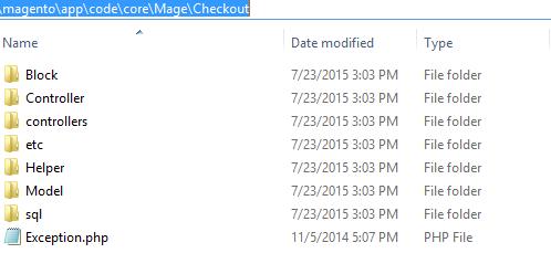 Magento Checkout模块
