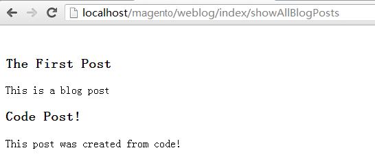 通过代码遍历出post内容