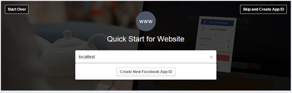 创建Facebook ID
