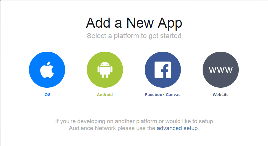 Facebook中添加网站应用
