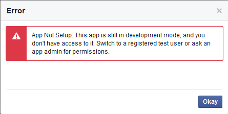 Facebook登录报错