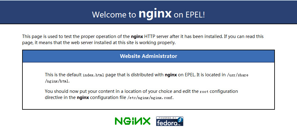 Nginx默认访问页面