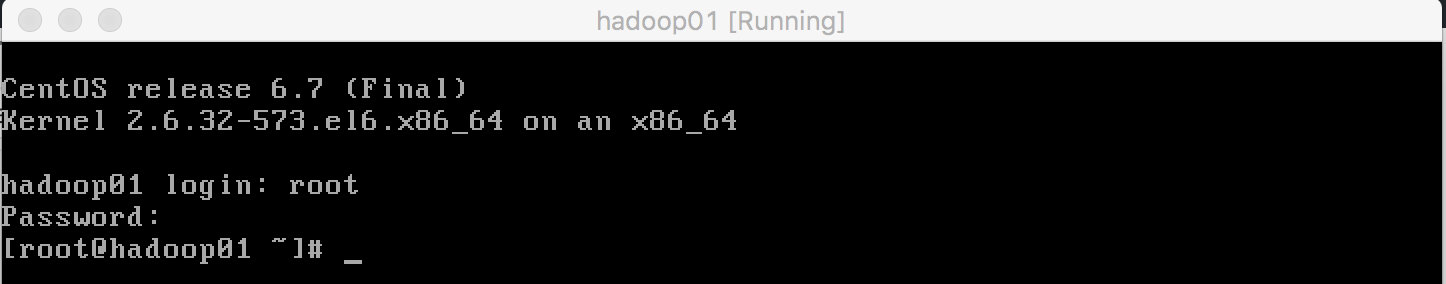 CentOS命令行登录页面