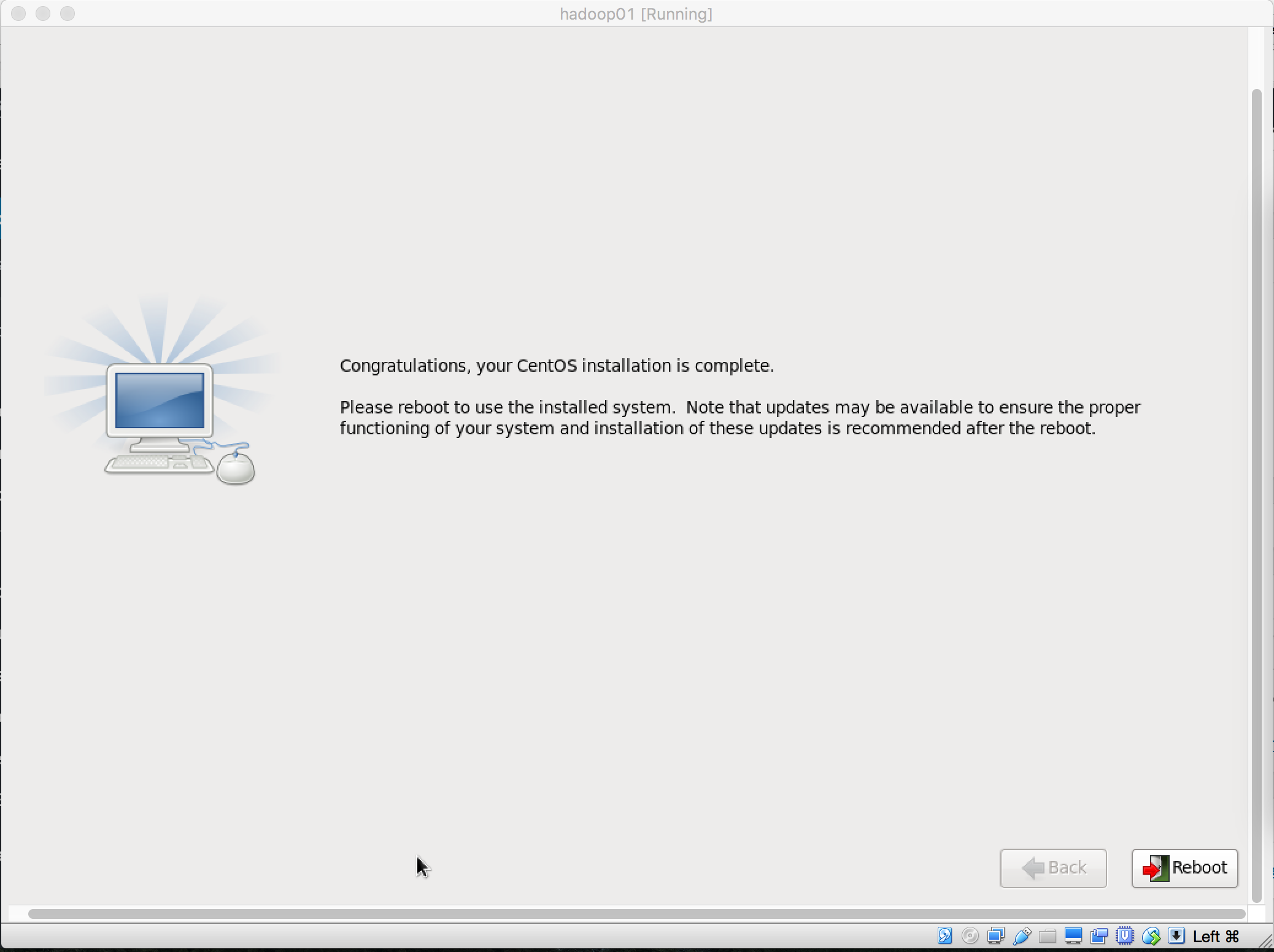 CentOS安装重启页面