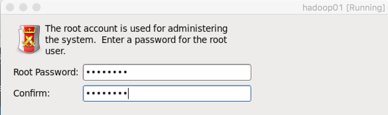 Root密码设置页面