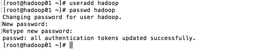 Linux添加用户hadoop