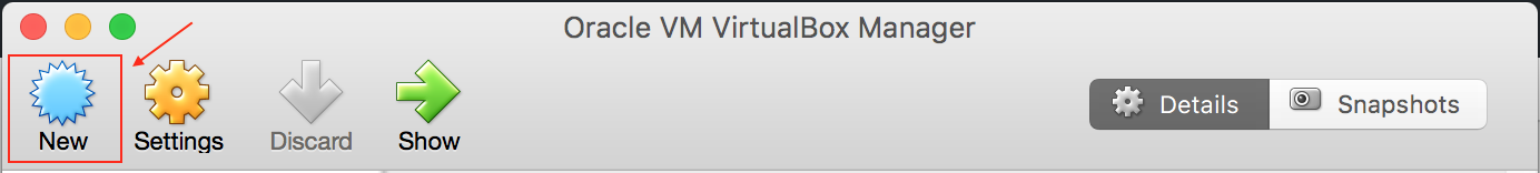 VirtualBox管理界面