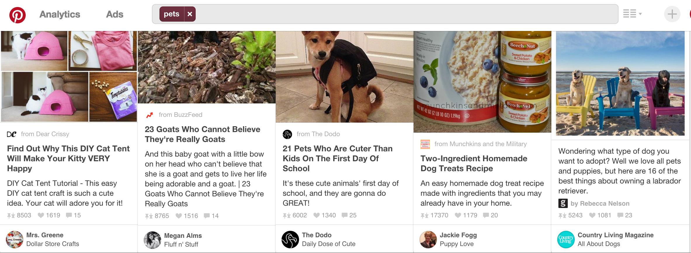 如何在Pinterest上按照Like数量筛选Pins