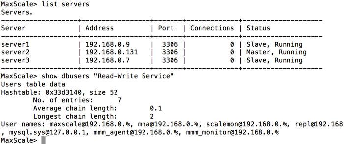 MaxScale实现MySQL读写分离和负载均衡