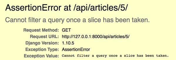 Django RESTful API搭建及常见问题
