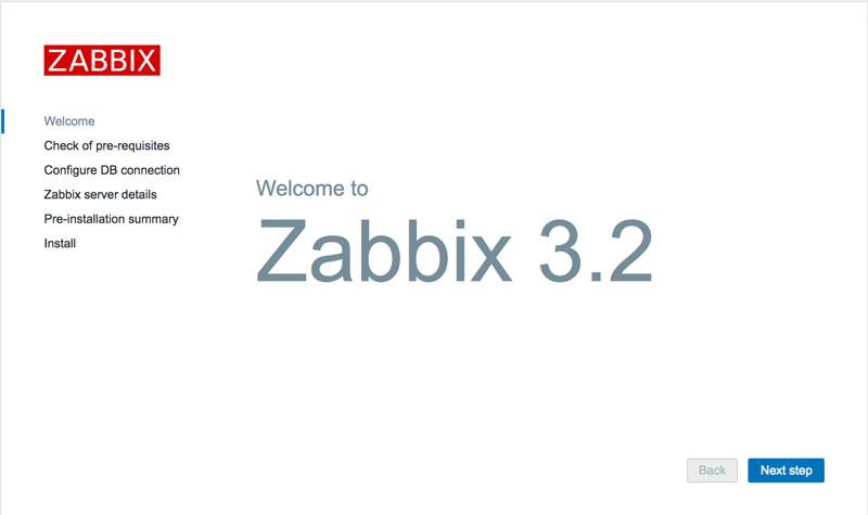 Zabbix安装初始页面