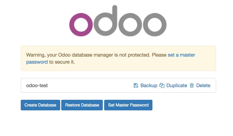 Odoo数据库图形化界面