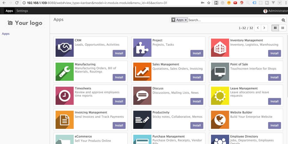 Ubuntu 安装Odoo 11.0及常见问题