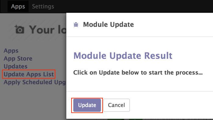 Odoo如何更新插件列表?