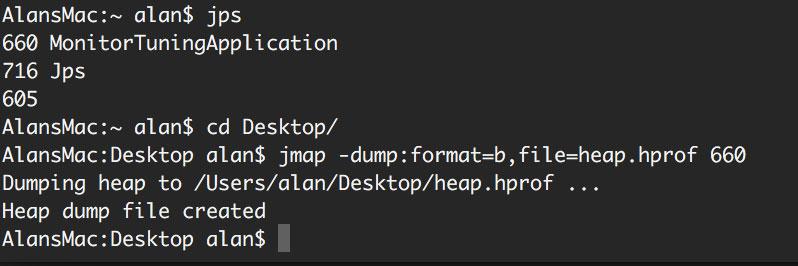 jmap 导出溢出文件