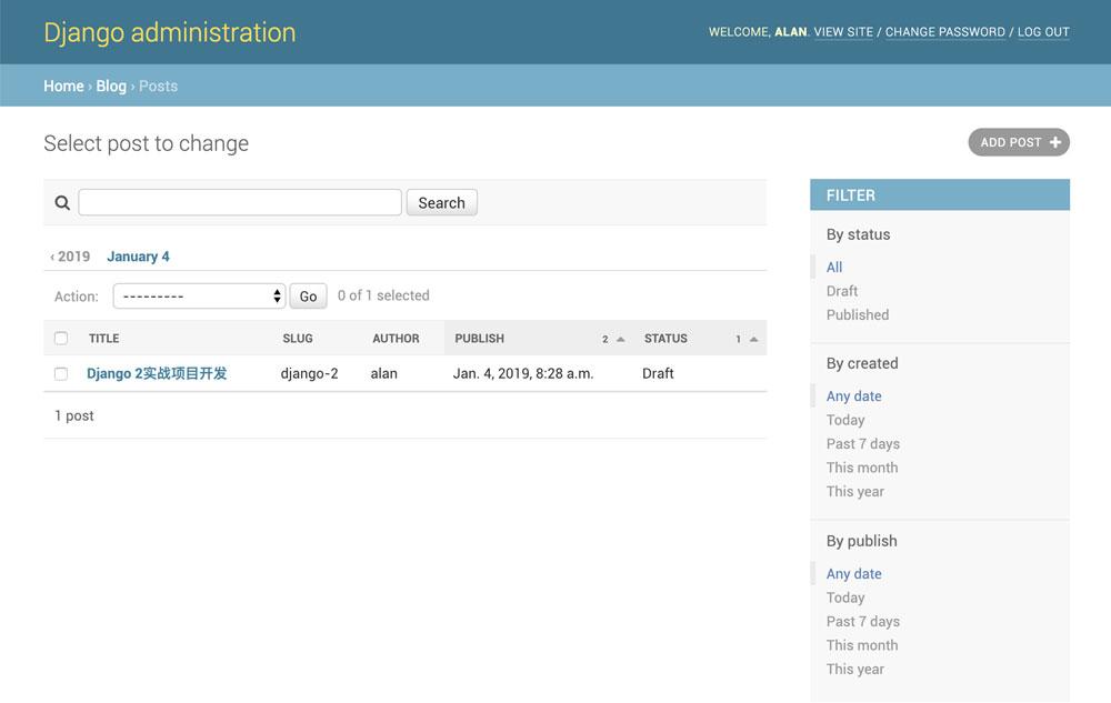 Django 2实战项目开发-基础博客篇