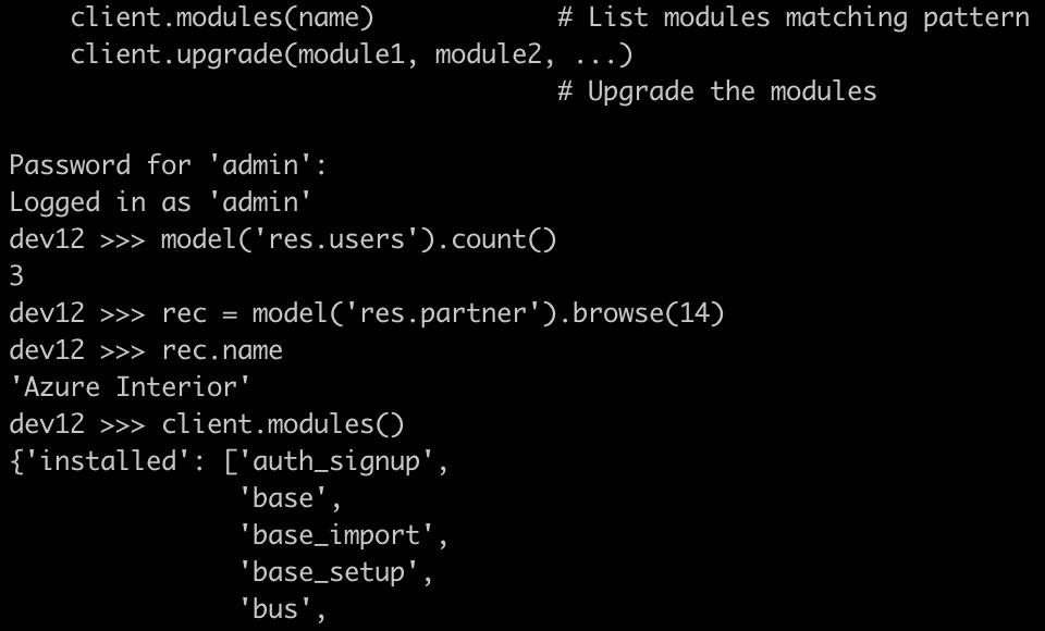 Odoo 12开发之外部 API - 集成第三方系统