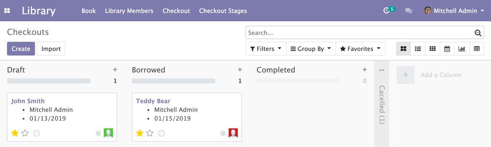 Odoo 12开发之看板视图和用户端 QWeb