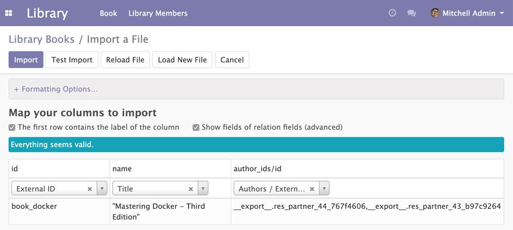 Odoo 12开发之导入、导出以及模块数据