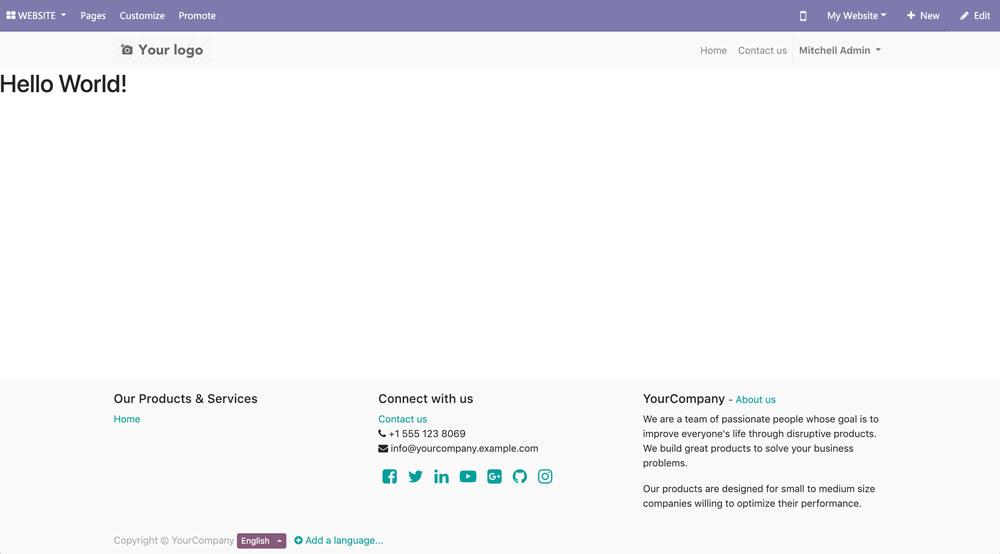 Odoo 12开发之创建网站前端功能