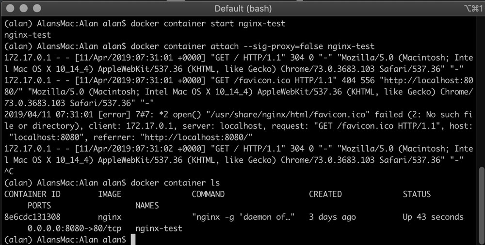 精通Docker第三版 - 第四章 管理容器