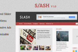 Slash – 技术杂志类Blogger模板