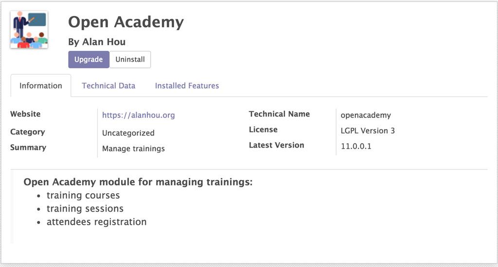 Open Academy Manifest 修改